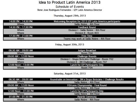 Complete Schedule I2P 2013